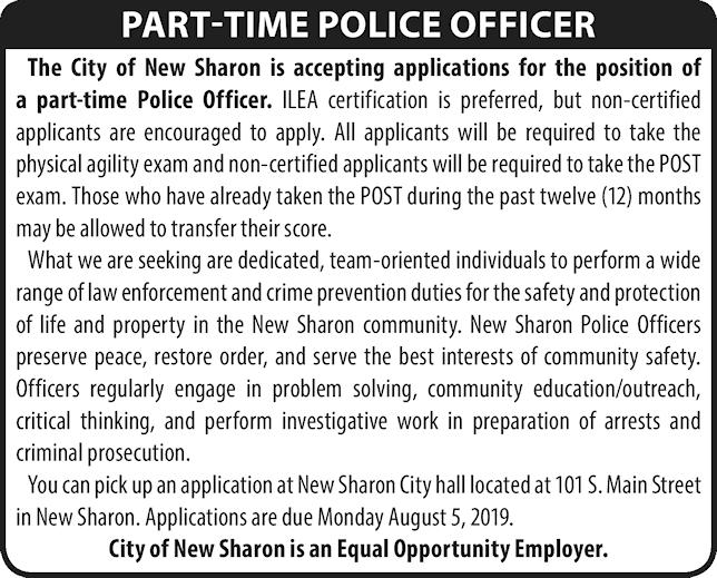 New Sharon Police Officer