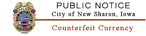 Public Notice - Couterfeit Currency
